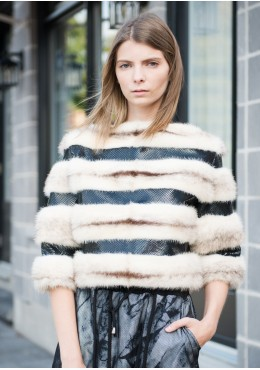 Cross  mink fur bolero