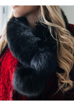 FUR HEADBAND SCARF