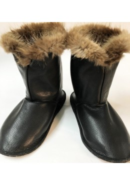 Beaver fur inside Leather boots