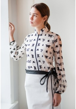 Butterflies white BLOUSE