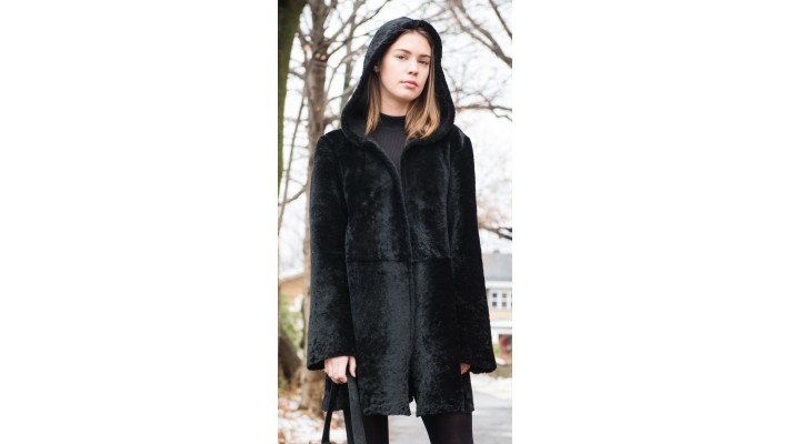 Reversible Black shearling  coat