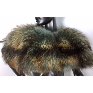 Finnish raccoon fur cape