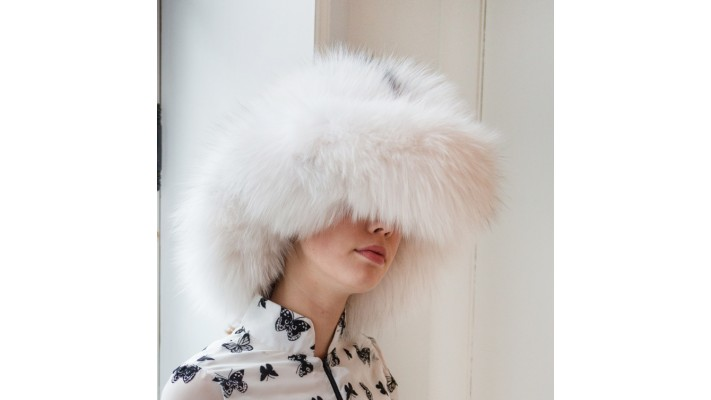 Marble fox fur Hat
