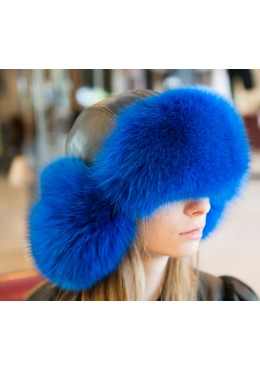Blue fox fur HAT