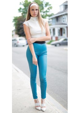 LEGGINGS en cuir extensible