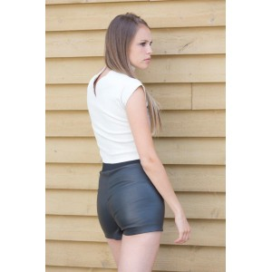 SHORTS en cuir extensible