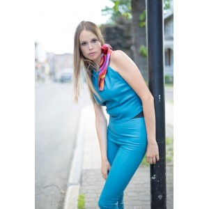 TOP en cuir extensible