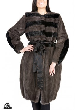 Gray and black Mink fur COAT