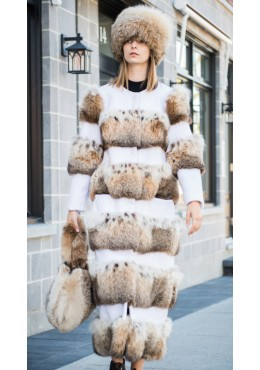 Lynx fur COAT with fabric