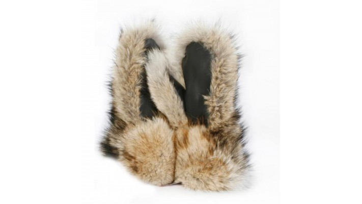 Coyote New fur MITTENS