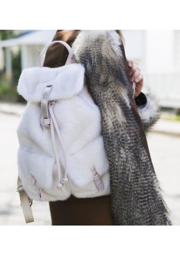 Mink fur BACKPACK