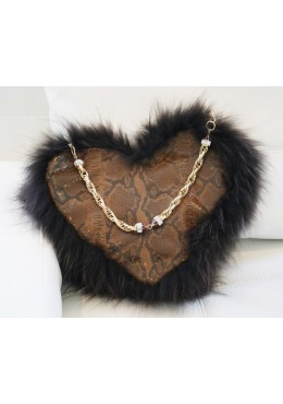 Brown handbag HEART