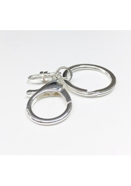Silver keychain with lobster clasp