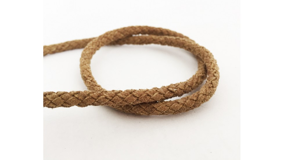 Leather cord for coat hood